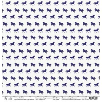 Бумага для скрапбукинга Скорость, коллекция Ветер перемен, 30,5*30,5 см