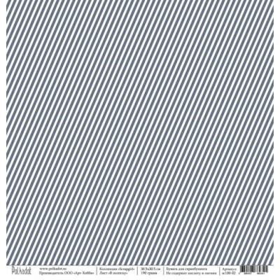 """Бумага для скрапбукинга """"В полоску"""", коллекция """"Scrapgirl"""", 30,5*30,5 см"""