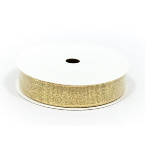 Лента золотистая в намотке, шир. 15 мм, длина - 2,75 м