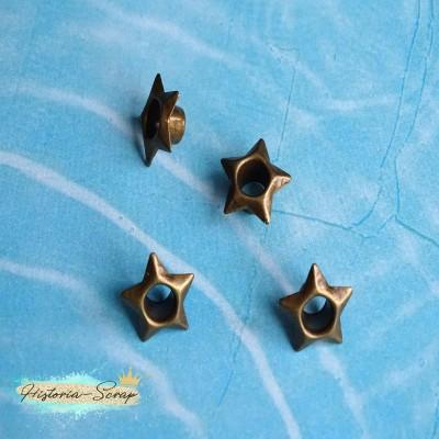 Люверсы Stars, цвет медный, 10 шт