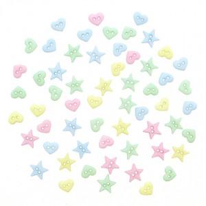 Набор декоративных мини-пуговиц «Dress It Up», звездочки-сердечки, микс
