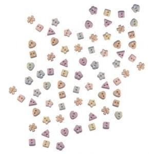 Набор декоративных мини-пуговиц «Dress It Up», разные формы, пастельные тона