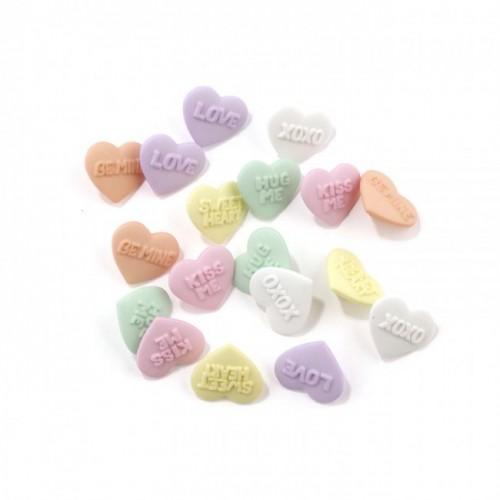 Набор декоративных мини-пуговиц «Dress It Up», конфетные цвета, микс