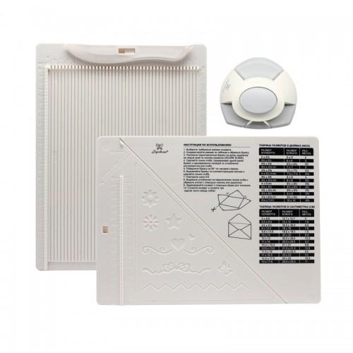 """Доска для создания конвертов и открыток в комплекте с дыроколом угла, ТМ """"Рукоделие"""""""