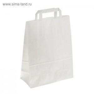 """Пакет крафт """"Радуга"""" белый, 25 х 11 х 32 см, с плоскими ручками"""