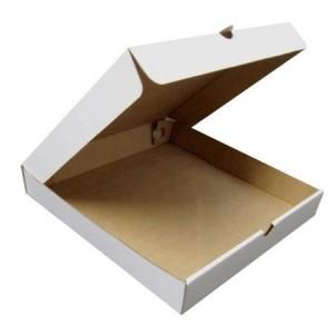 Крафт-коробка, цвет белый 22,9×19,1×3,7см