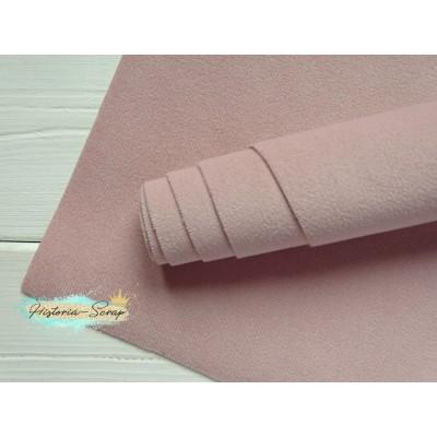 Микровелюр Soft на нетканой основе, цвет нежно-розовый, 35х50 см