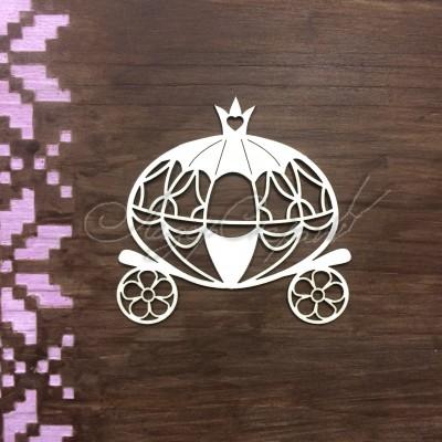 Чипборд картонный Карета для принцессы, 61*61 мм