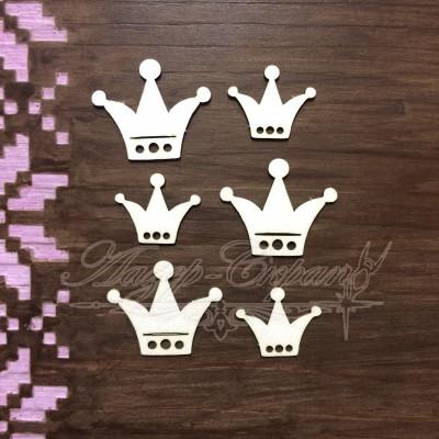 Чипборд картонный Короны, 29*24 мм, 22*18 мм