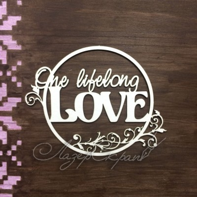 "Чипборд картонный ""Love"", 95*74 мм"