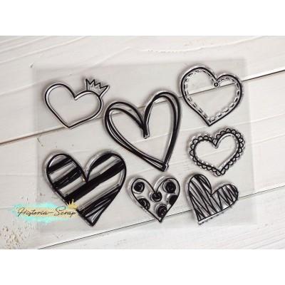 Набор штампов силиконовых Hearts, 14 х 18 см