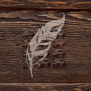 """Анкеры акриловые """"Бабочки"""", 1,7 × 0,9 см, 12 шт"""