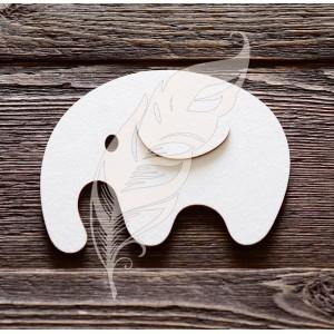 Заготовка для тиснения «Слонёнок», 12 х 11 см
