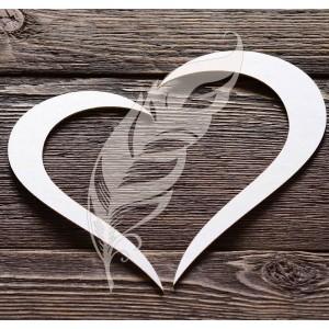 Заготовка для тиснения «Сердце», 15 х 13,7 см