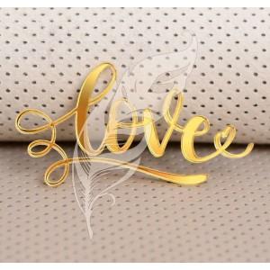 "Декор из зеркального акрила ""Love"", 5 х 3 см"