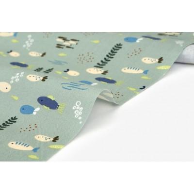 Хлопок Dailylike «Kayak: schooling fish», 30*55 см