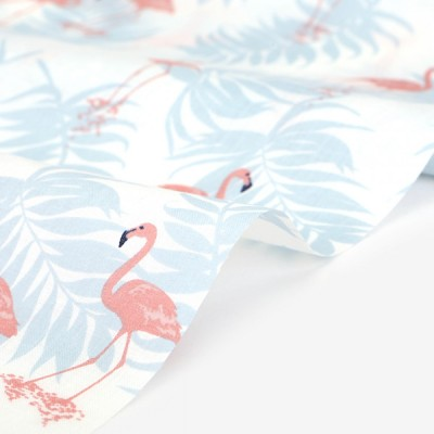 Хлопок Dailylike «Fresh flamingo», 30*80 см