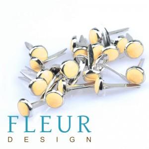 """Набор брадсов """"Fleur Design"""", цвет желтый, 10 шт"""