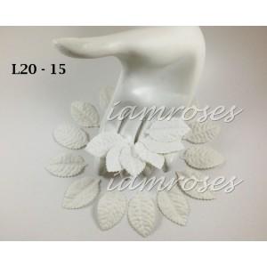 Цветы бумажные для скрапбукинга - лепестки роз, цвет белый, 2,5 см, без стебельков, 10 шт