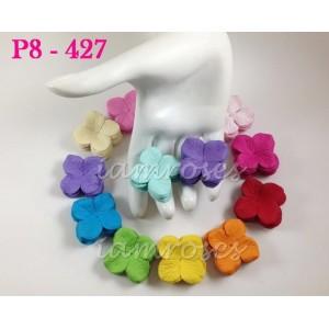 Цветы бумажные для скрапбукинга - гортензия, микс, 3,2 см, без стебельков, 11 шт