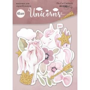 """Набор высечек для скрапбукинга 41 шт, коллекция """"Unicorns"""""""