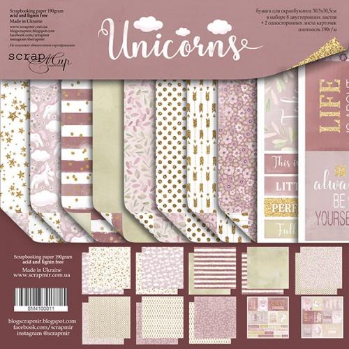 Набор бумаги для скрапбукинга Unicorns 30х30см