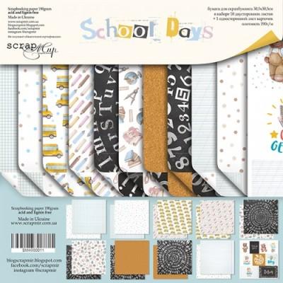 Набор бумаги для скрапбукинга School Days, 30 х 30см