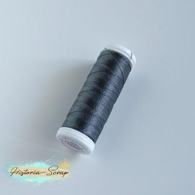 """Нитки швейные для кожи """"Aurora"""" """"Tytan"""", намотка 120 м, цвет серый"""