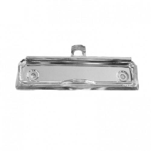 Зажим для клипборда С100 с подвесом, цвет серебро