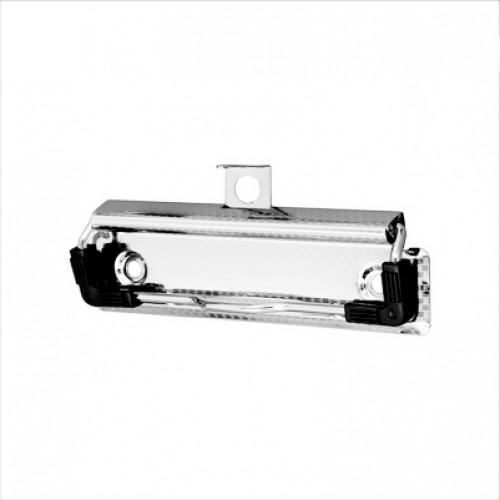 Зажим для клипборда С100 с подвесом и уголками, цвет серебро