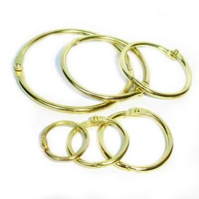 Кольцо разъемное, цвет золото, диам. внутр. 19 мм, 2 шт