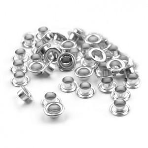 Люверсы, цвет серебро, 5 мм, 10 шт