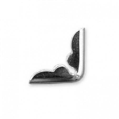 """Уголки металлические """"Pac Plain"""", цвет серебро, 15 х 15 мм, шир. 2,5 мм, 4 шт"""